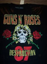 VINTAGE STYLE GUNS N ROSES Appetite For Destruction 1987 TOUR T-Shirt SMALL NEW