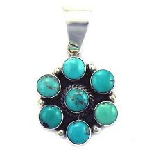 *CARICO LAKE* Turquoise Cluster Pendant by Bobby Johnson