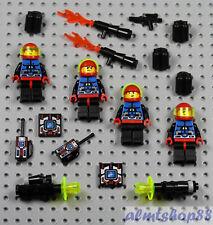 LEGO - 4x Spyrius Astronaut Minifigures - Chief Weapons Classic Space 6835 6705