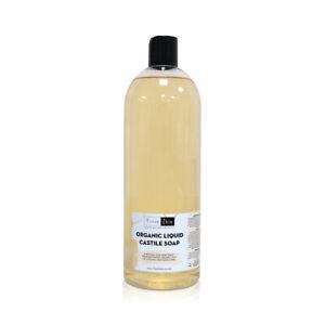 Organic Liquid Castile Soap - All-Natural Unscented Liquid Soap - Various Sizes