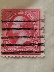 Antique George Washington 2 Cent Postage Stamp Red Extremely Rare
