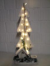 Dekoration Holz Tannenbaum Deko LED Batterie Weihnachtsdeko Advent Weihnachten