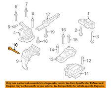 VW VOLKSWAGEN OEM Engine Motor Transmission-Support Bracket Bolt Right N10701501
