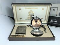 ZIPPO Limited Edition 70th Anniversary Lighter & Chain Pocket Watch Set No.0219