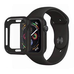 Hülle für Apple Watch Series 6 5 4 SE 40mm / 44mm Case Displayschutz Schwarz