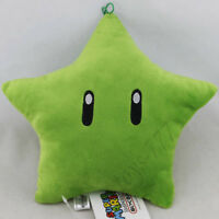 "Super Mario Bros. 3D World Green Star 8"" Plush Toy Nintendo Stuffed Animal Doll"