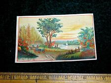 The Great American Tea Company, Lovely Fall Scene, Victorian Trade Card F26
