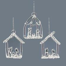 Arbre de noël décoration-pack de 3 verre clair crèche