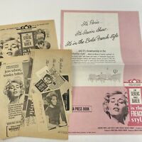 Vintage Original Movie Pressbook Clippings In The French Style 1963 Jean Seberg