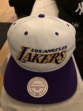 Los Angeles Lakers Kobe Bryant Script Retro Mitchell & Ness Snapback Hat Cap