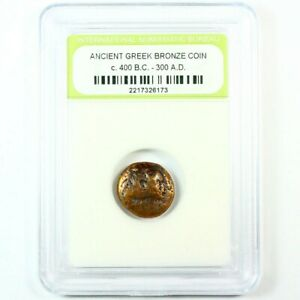 Blowout! Slabbed Ancient Greek Coin. c.400 B.C. - 300 A.D. 1 coin per bid
