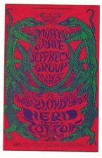 Moby Grape Jeff Beck Fillmore Ballroom Bill Graham Postcard Bg-130 N/M B-16