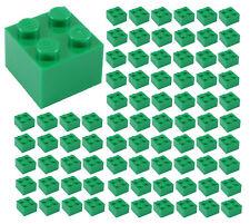 ☀️100x NEW LEGO 2x2 GREEN Bricks (ID 3003) BULK Parts Grass City Building