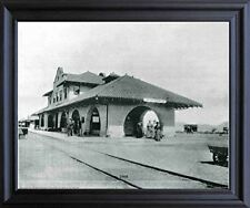 Vintage Las Vegas 1908 Old City Black And White Black Framed Wall Decor Picture