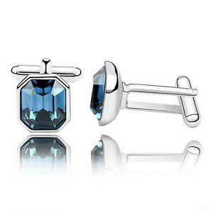 Top Quality Twinkle Mens Cufflinks Made With Swarovski Elements Crystal 4 Colors