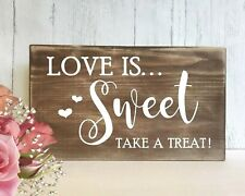 Wedding Sweet Table Sign Rustic Wooden Love is Sweet Wedding Venue Decoration