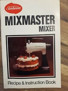 Original Sunbeam 1970s  Mixmaster owners manual