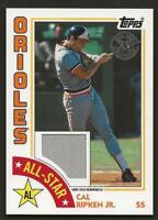 2019 Topps Series 2 CAL RIPKEN JR. 1984 Topps All-Star Relic Orioles Jersey Gray
