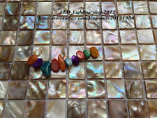 1 pcs colorful pearl shell mosaic wall tile kitchen backsplash wall decoration