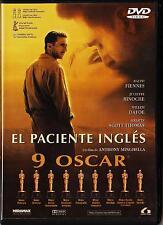 Anthony Minghella: EL PACIENTE INGLÉS. España: tarifa plana envíos DVD, 5 €