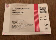 Sammlerticket FC Bayern München - Hannover 96