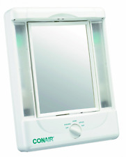 Conair Two-Sided Lighted Makeup Mirror with 4 Light Settings; 1x/5x Magnificatio
