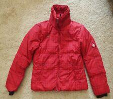 Columbia Red Ski Jacket Women's Size Medium Winter Parka Down-Filled Puffy