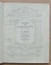 METHODE DE CLARINETTE de Fr. BERR / 1ère partie / 97 pages