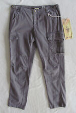 Da-Nang Surplus Cotton Cargo Pants - Embroidery -Licorice/Taupe -Size Med NWT