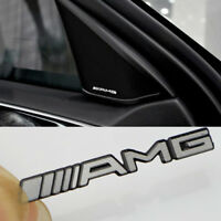 6 Pcs Alloy AMG Steering Wheel Sticker Badge Logo Emblem Aluminium For Mercedes
