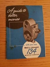 Bell & Howell 134 8mm Movie Camera Manual Only 1930's