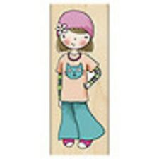 PENNY BLACK RUBBER STAMPS FLOWER-CHILD MINDY NEW STAMP