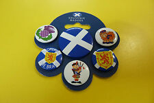PACK PACKET OF 6 X SCOTISH BUTTON BADGES FLAG NEW AND PACKED PIN SCOTLAND