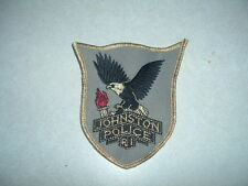 LAW ENFORCEMENT PATCH JOHNSTON POLICE RHODE ISLAND ABOUT 4 INCHES