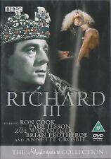 RICHARD III - Complete BBC Drama. 1980. Ron Cook, Zoe Wanamaker (2xDVD SET 2005)