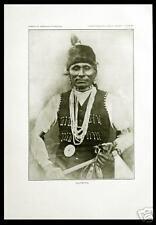 Antique Print 28 Portrait PONCA Hu'Petha Indian Warrior