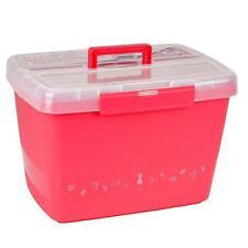 Große stabile Nähbox - Nähkoffer - Kunststoffbox (pink)