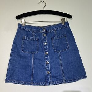 small Urban Outfitters BDG button fron Jean skirt