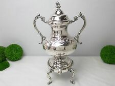Antique Chased Ornate Silver Plate Samovar Urn Coffee Tea Warmer Dispenser