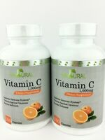 Set Of 2 VITAMIN C Natural Med Lab Super High Potency 1000 mg 200 Caps EXP 04/23