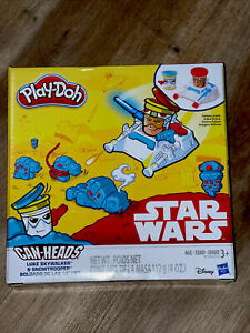 Play-Doh Star Wars Can Heads - Luke Skywalker & Snowtrooper BRAND NEW SEALED