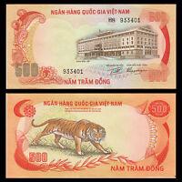 South Vietnam Viet Nam 500 Dong, ND(1972), P-33, A-UNC, Asia Paper Money