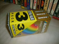 *VHS - 3 x ACME 3 Hour - Brand New Factory Shrink Wrapped Blank Vhs video tapes*