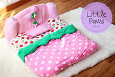 Princess Strawberry Pet Dog or Cat Queen Bed Kennel House Sofa Blanket Pillow