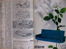PUBLICITÉ 1960 AIRBORNE LE NOUVEAU CANAPÉ-LIT -  ADVERTISING