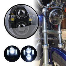 "5.75"" 5 3/4"" Projector Led Headlamp Headlight Black For Harley Dyna Sportster"