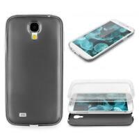 Samsung Galaxy S4 360 GRAD RUNDUM SCHUTZ Metalloptik TPU Slim Hülle Cover Case
