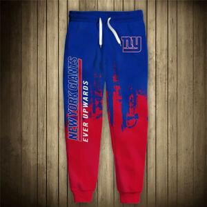 NEW YORK GIANTS Men's Sweatpants Sweats Pants Polyester S-6XL Football Team Logo