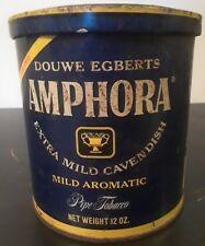 Vintage Douwe Egbert Amphora Pipe Tobacco Cavendish Rusty Tin Rustic Decor