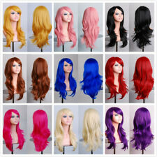 70cm Long Wavy Cosplay Wig 12 Colors heat resistant Fiber Women Full Head Wigs
